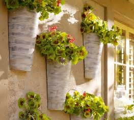 outdoor wall hanging planters wall mount galvanized metal planter