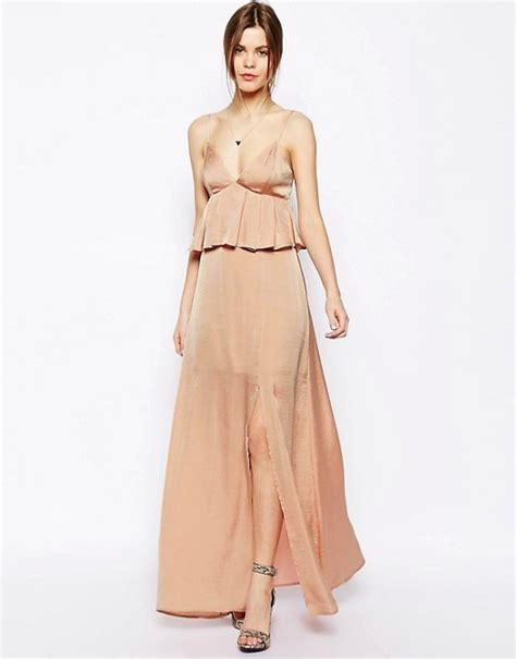 Maxidress Peplum asos asos maxi dress with soft peplum