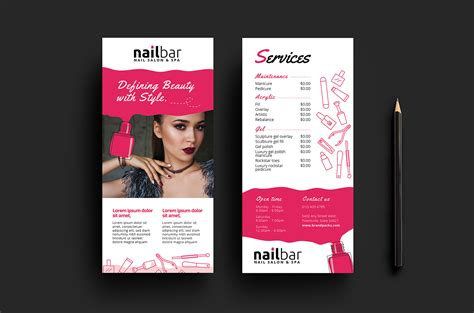 nail salon business card template free nail salon dl card template for photoshop illustrator