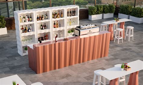 Banconi Da Bar In Legno by Bancone Bar In Legno Set Bar Wood