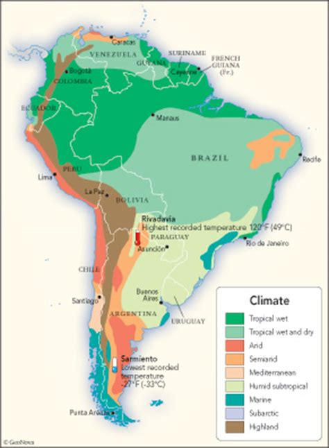 south america map desert climate earthducation expedition 4