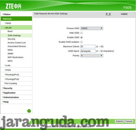 Router Zte F609 membuat ssid dengan modem zte f609 171 jaranguda