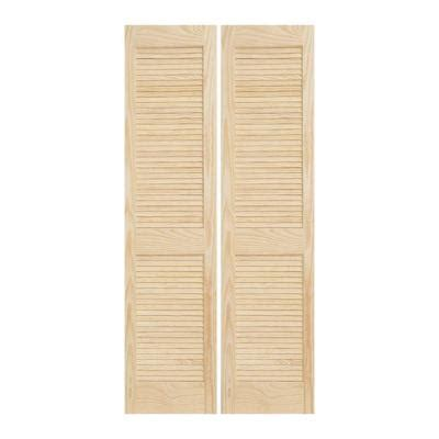 interior wood doors home depot jeld wen 30 in x 80 in woodgrain 2 panel louver solid wood interior closet bi fold