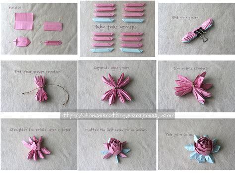 origami lotus tutorial chineseknotting