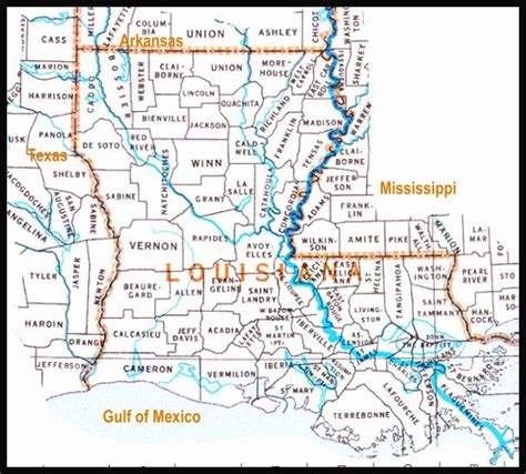 louisiana map showing parishes atlas how to