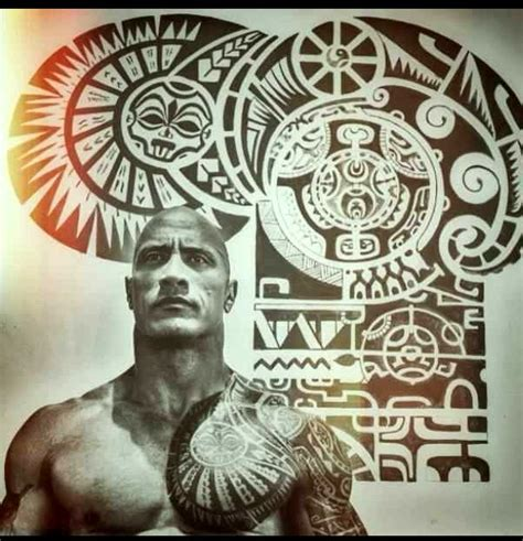 tattoo dwayne the rock johnson 48 coolest polynesian tattoo designs