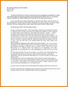 Custody Letter Format by 5 Custody Letter Exle