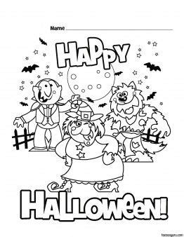 halloween coloring pages for elementary 15 best kids printable s halloween images on pinterest
