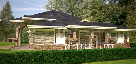Four Bedroom House Plan by Arch Porch Bungalow House Plan David Chola Architect