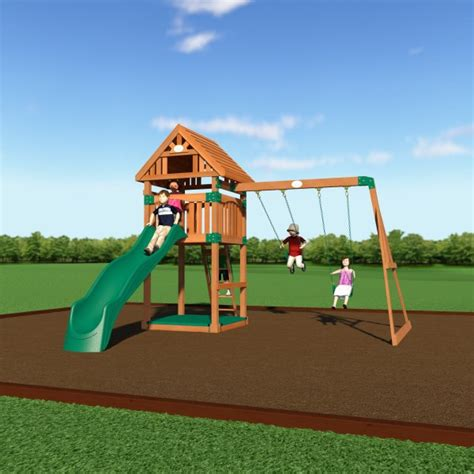 backyard odyssey 54213com trek wooden playground play set