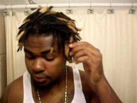 black guys dreaded dyed tips dyed dreadlocks tutorial 12 28 09 youtube