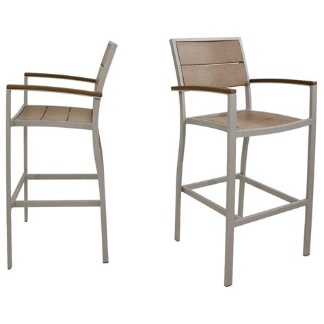 Trex Outdoor Bar Stools by Trex Outdoor Furniture Surf City Textured Silver 2