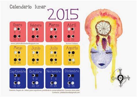 Calendario Lunar Octubre 2015 Ilustrada Calendario Lunar 2015 Gratuito