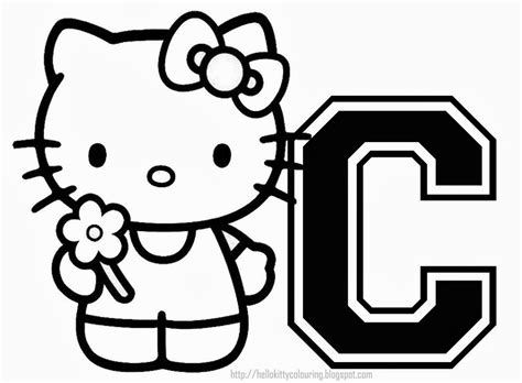hello kitty coloring pages with letters alfabeto de hello kitty para colorear oh my alfabetos