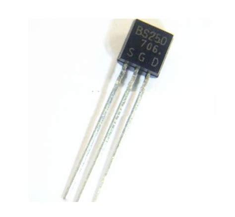 transistor mosfet bs250 bs 250 small signal mosfet 60v 500ma quot p channel quot la tronics