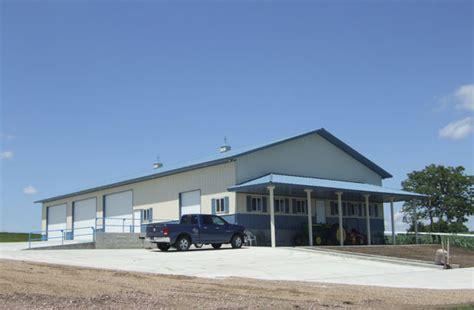 Metal Building With Living Quarters Floor Plans Yankton Sd Ag Storage Shop Building Lester Buildings