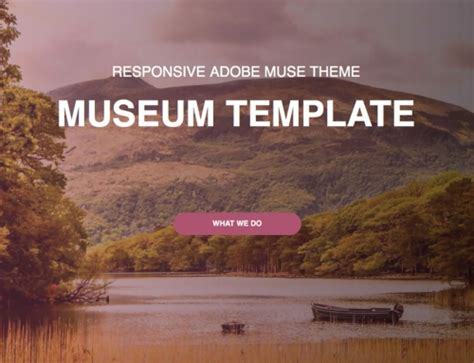 museum template muse responsive templates archives responsive muse