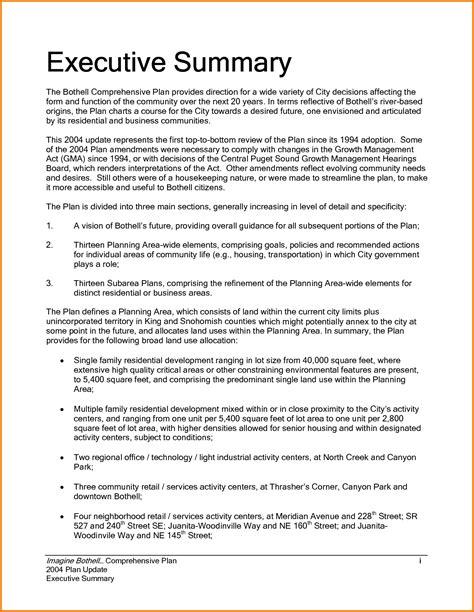 good executive summary outline template executive summary outline