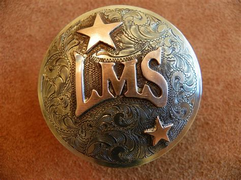 Handmade Conchos - saddle horn cap silver engraved