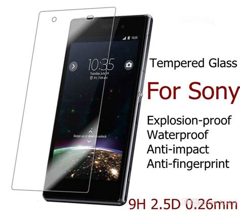 Sony Z5 Explosion Proof Tempered Glass Protector Anti Gores for sony xperia m4 m4aq m5 m6 z3 plus z3 mini z4 z5 plus z5 mini tempered glass 9h explosion