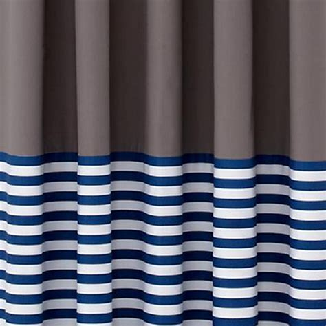 Blue Stripe Curtains Curtains Blue Stripe Grey Window Curtains The Land Of Nod