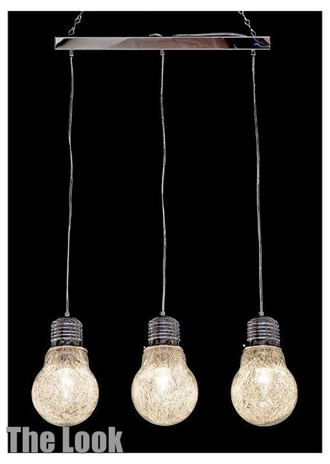 Light Bulb Shaped Ceiling Light Funky Novelty 3 Bulb Chandelier Matching Items Available Ebay