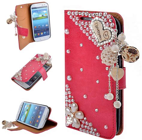 bling bling rose  shiny diamond wallet case stand cover