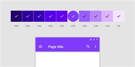 the colors the color system material design