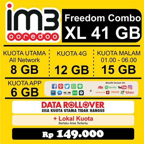 freedom combo xl paket data indosat elevenia
