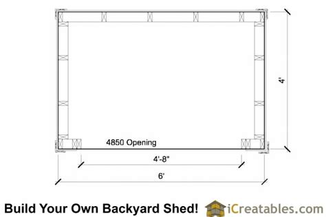 4x6 Shed Plans by Cene Firewood Shed Plans With Materials