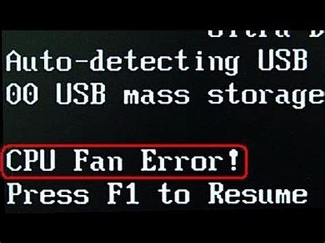 cpu temperature error press f1 to resume resume ideas
