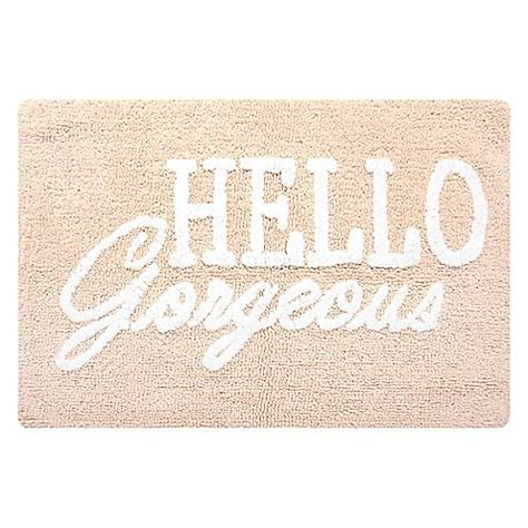 Buy Hello Gorgeous Accent Rug In Rosewater From Bed Bath Hello Bathroom Rug