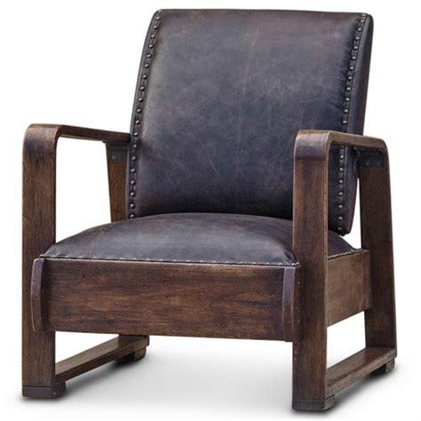 industrial armchair nathaniel industrial loft walnut espresso brown leather