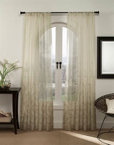 lightweight curtains ombre sheer lightweight vine print panel curtainworks com