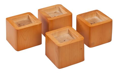 Bed Raisers by Wooden Bed Risers Set Of 4 By Walterdrake Ebay