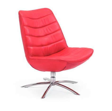 Fjords Chairs by Fjords Breen Swivel Top Grain Leather Chair Office Chairs