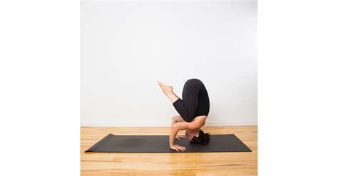 tripod headstand prep    headstand  yoga popsugar fitness photo