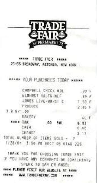supermarket receipt template 5 grocery payment receipt sles templates pdf