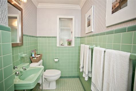 White Tiled Bathroom Ideas by 36 1950s Green Bathroom Tile Ideas And Pictures