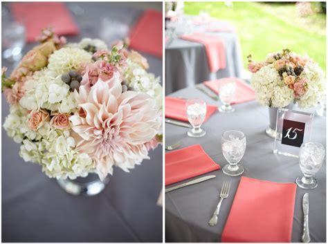 Coral & Gray Wedding at Laurel Creek Manor   Jen's