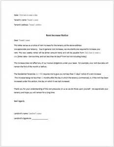 rent increase notice template rent increase notification letter template rent increase