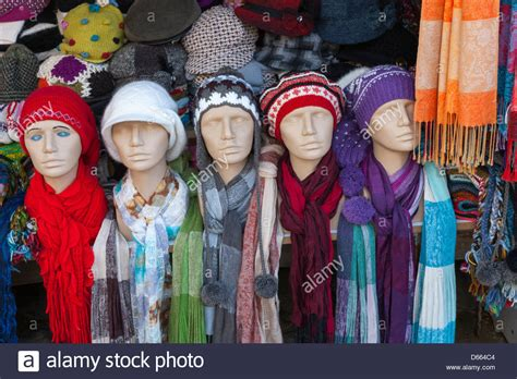 market stall selling hats and scarves in sirince near