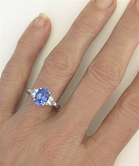 White Sapphire Ceylon 3 ceylon sapphire and trillion white sapphires in a 3