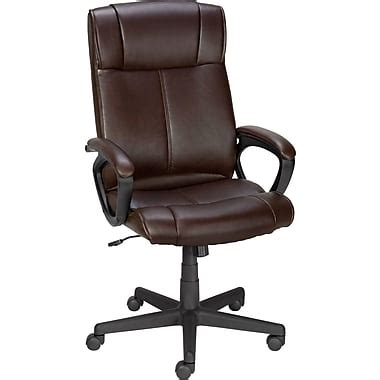 staples 174 turcotte luxura 174 high back executive chair brown