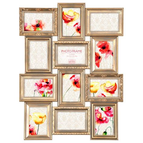 photo frame display maggiore gold multi photo frame antique style photo display