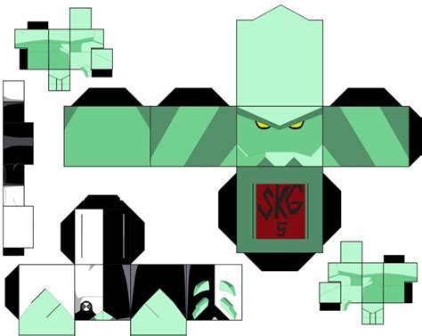 Ben 10 Papercraft - diamondhead by superkamiguru5 on deviantart