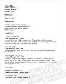Flight Attendant Resume Exle by Flight Attendant Resume Template Professionally Written Sles