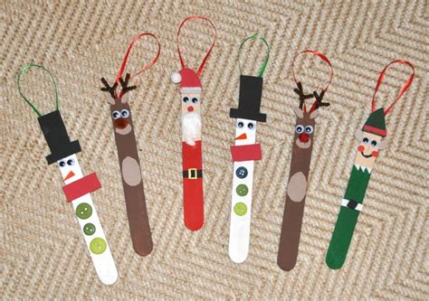 diy popsicle stick christmas ornaments christmas