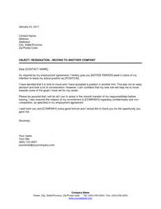 Resignation Letter Company by How To Write A Company Resignation Letter Cover Letter Templates