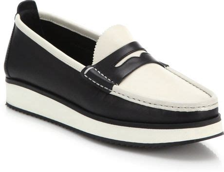 Aldo Two Tone Wallet Black And White rag bone tanja two tone leather loafers in black black